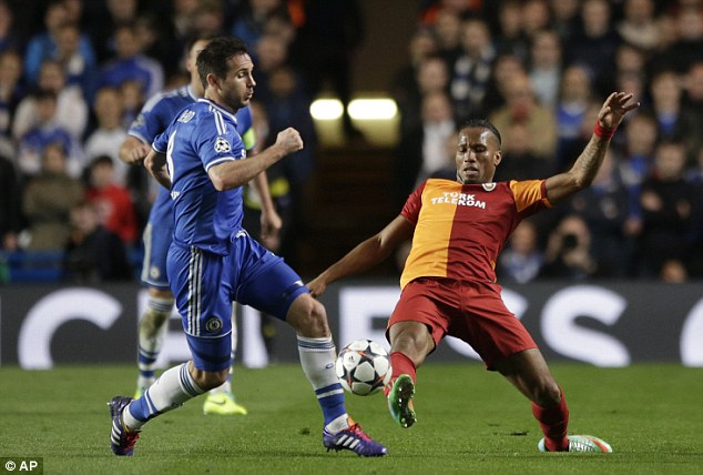 Big-game player: Frank Lampard was in fine form in the centre of Chelsea's midfield