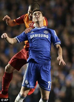 Whiz kid: Oscar is a class act behind the striker