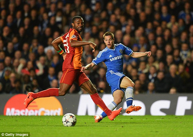 Solid: Cesar Azpilicueta put in another assured defensive display against the Turkish side