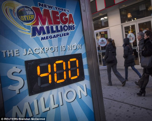 Over-night millionaires: Winning tickets for the $400million jackpot were sold in Maryland and Florida