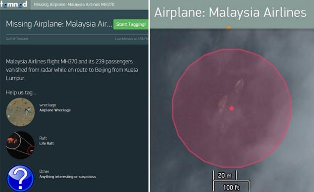 DigitalGlobe has uploaded high-resolution satellite and aerial images to its Tomnod site that let people explore the seas for clues about the crash, as well signs of a wreckage or oil slick