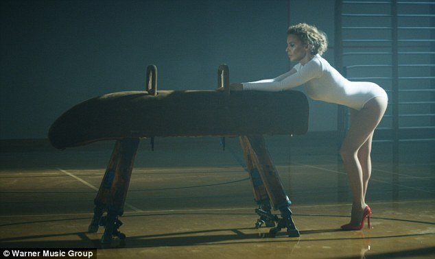 Pop princess: The 45-year-old still has the body and the moves to keep her audience adoring
