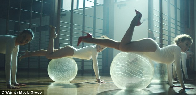 She's got the moves! Kylie Minogue show the world how to sexercize in the sneak peek for her new music video