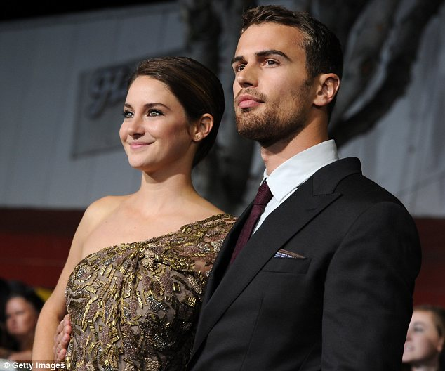 The perfect pair: The casting of both Shailene and Theo won rave reviews from fans of the book series on which the movie is based