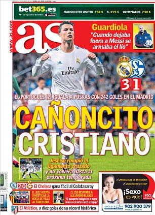 'Unstoppable Cristiano': AS