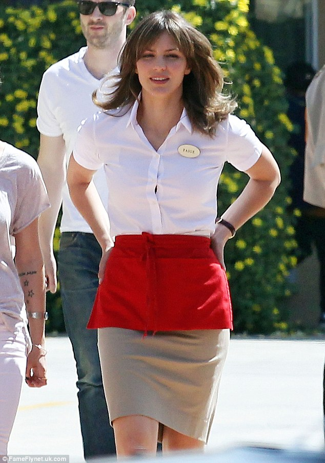 Let's make it a smash: Katharine McPhee hits the set of her new TV series Scorpion