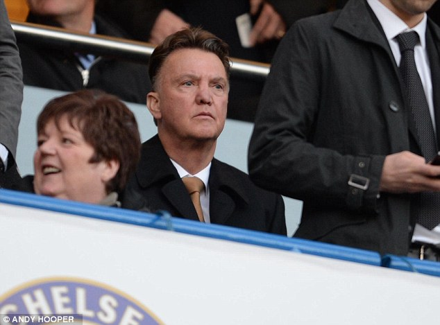 Watching brief: Van Gaal has been spotted keeping an eye on the English game this season
