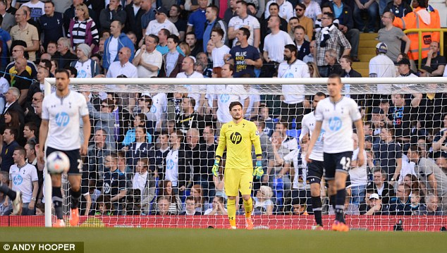 Not good enough: Tottenham lie seven points beneath Liverpool in fourth having played three games more