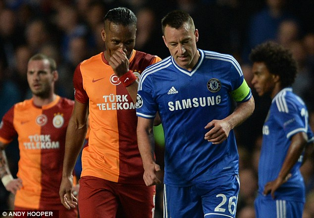 Friends or foes? Terry was tasked with marking Drogba out of the game at Stamford Bridge