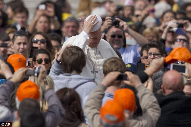 Denial: Vatican spokesman Father Federico Lombardi said a meeting between the Pope and the Noah team was never on the cards'