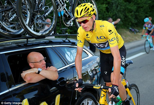 Success story: Team Sky rider Chris Froome (right) won the Tour de France last year