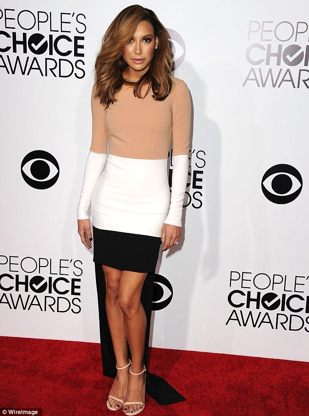 A different Rivera: The brunette was much smaller on January 8 at the People's Choice Awards in this sweater dress