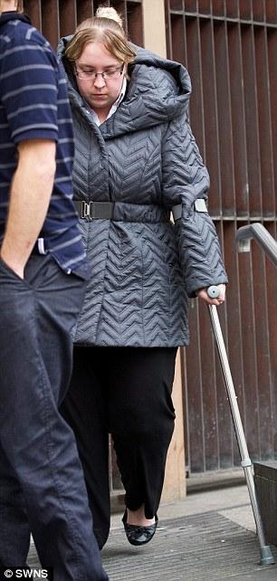 Katy Gammon leaves Bristol Magistrates' Court