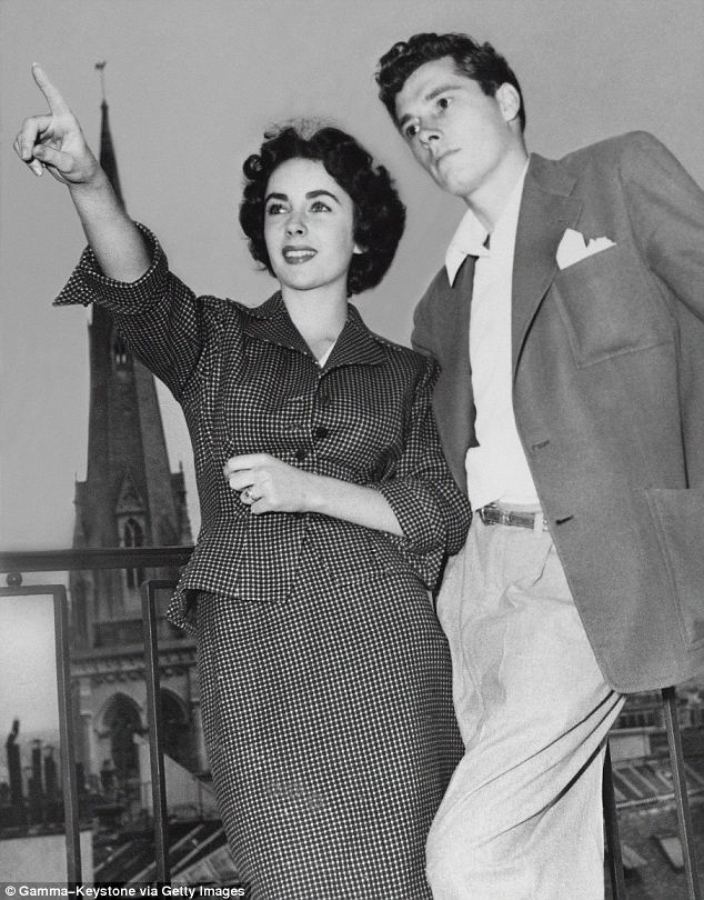 Cultured: His father, Conrad, paid for the reception for 700 guests and their honeymoon cruise on the Queen Mary and ensuing tour of Europe, with the newlyweds pictured here in Paris in May 1950