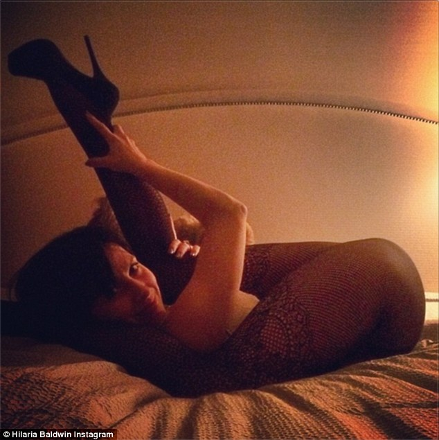 Getting his attention: Hilaria Baldwin posted a snap on Wednesday that is sure to please her husband Alec
