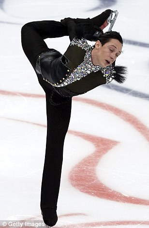 Champion on ice: Weir competed in the 2010 Vancouver Winter Olympics, finishing sixth place in the men's single competition
