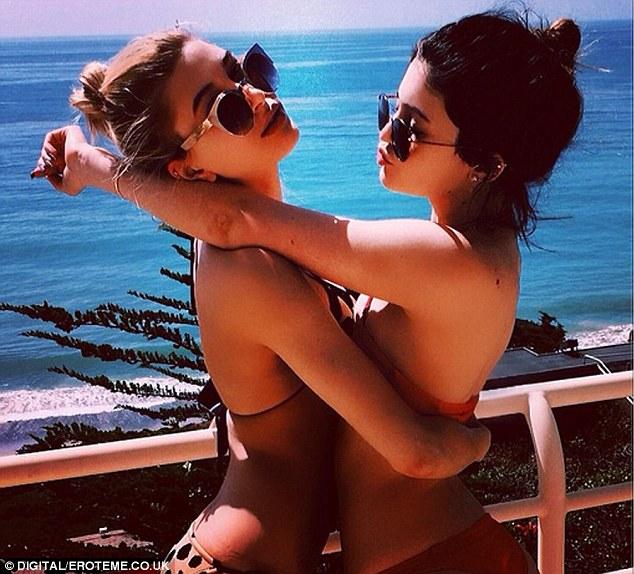 Buddies: Haiiley Baldwin and Kylie Jenner shared a picture of them enjoying a Malibu heatwave together