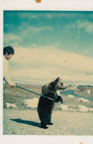 A young Hercules is trained by Andy Robin at their home in Scotland. The bear lived with the couple for 25 years