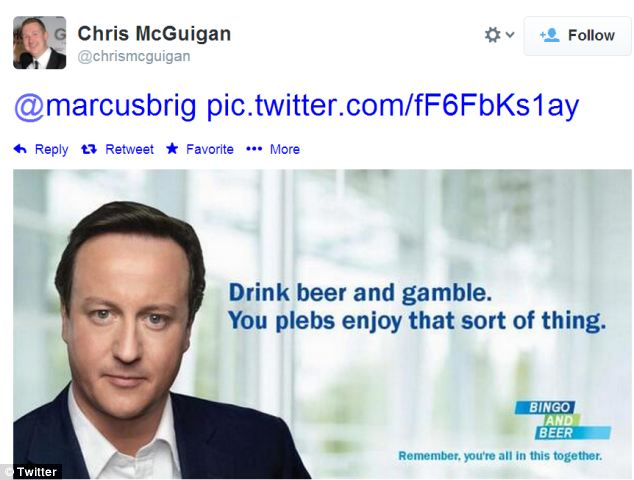 Old Tory adverts also got a makeover, including this one from @chrismcguigan