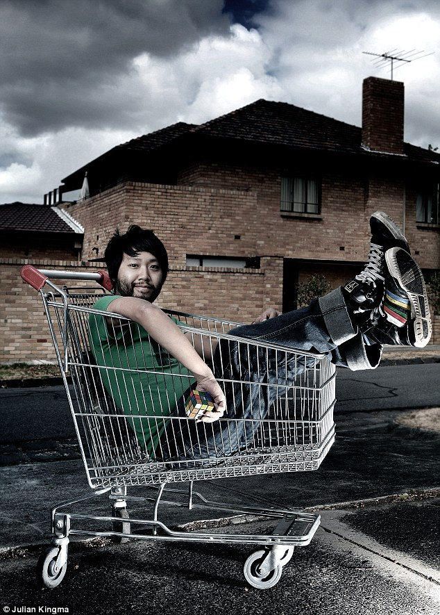 Trolley boy: Comedian Laurence Leung photographed by Julian Kingma for the National Portrait Gallery exhibition