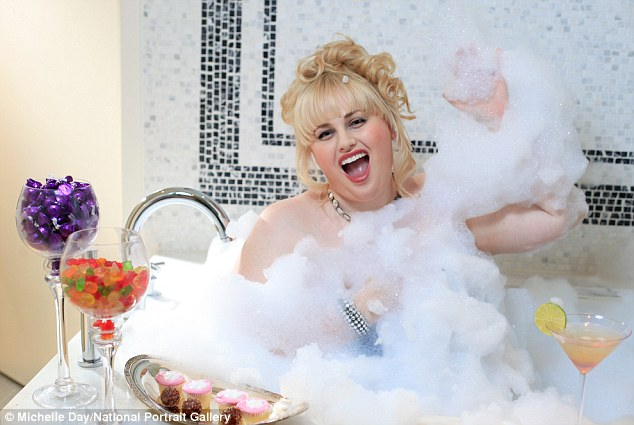 Bubbly blonde: Rebel Wilson poses up in a Michelle Day photograph for the National Portrait Gallery exhibition