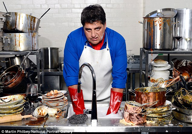 MasterChef: Matt Moran strikes a snarl in a shot by Martin Philbey for the National Portrait Gallery exhibition