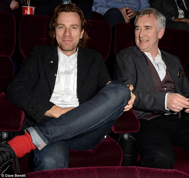 Sitting pretty: Ewan and his uncle, acting legend Denis Lawson