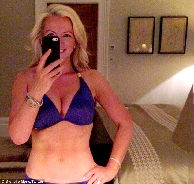 Snap happy:  Michelle shared a bikini snap with her 423,00 Twitter followers earlier in the week