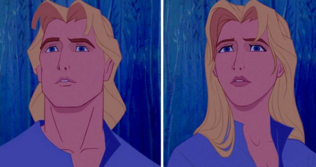 He's no prince, but John Smith from Disney's Pocahontas was given the 'Genderbending' makeover too, to look like a woman. Artist TT Brett slimmed out John's frame, lengthened his hair and softened his face to make it appear more feminine