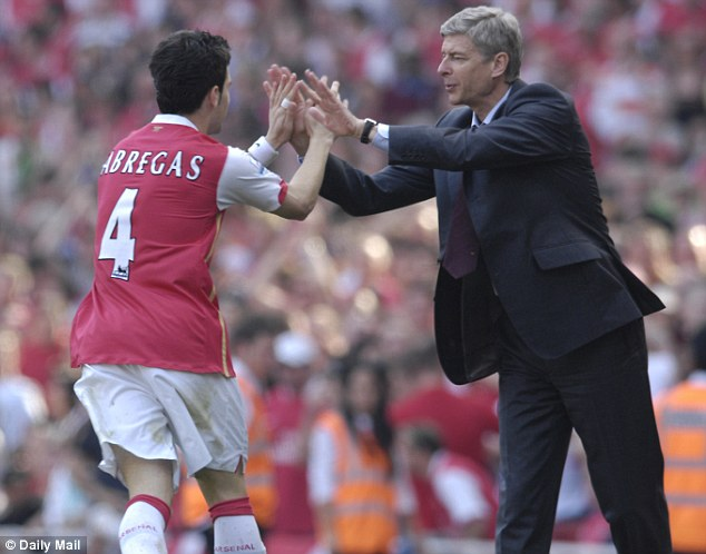 Congratulations: Cesc Fabregas says Wenger made a big impact on his and other players' careers