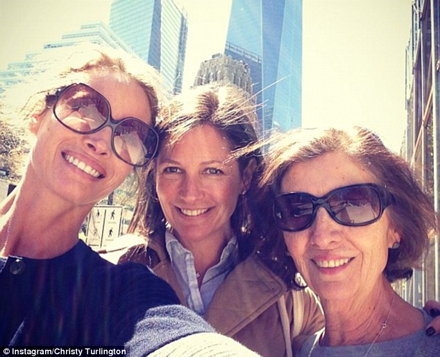 Last year the supermodel posted an image of herself with sister Kelly and their mom, showing just how the Turlington family have grown up