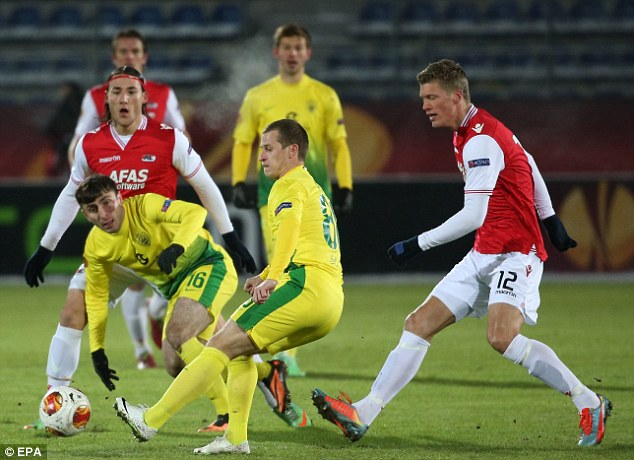 Stalemate: AZ Alkmaar progressed following their goalless draw with Anzhi Mackhackala
