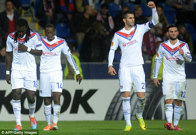 Allez! Lyon lost to Plzen on the night but sailed through after their 4-1 first-leg victory