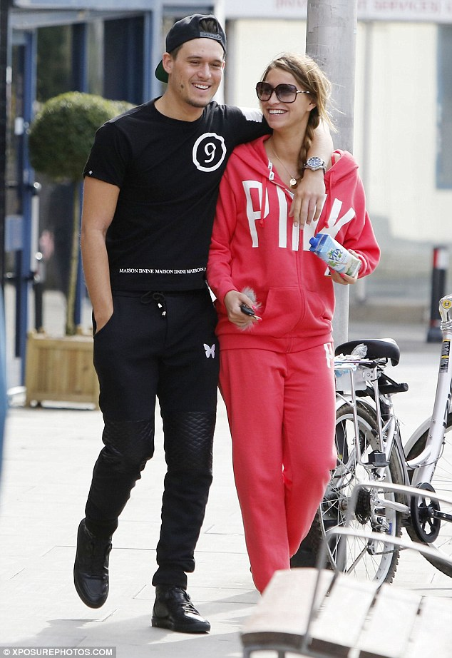 Back for good? TOWIE stars Ferne McCann and Charlie Sims looked like love's young dream as he lovingly draped his arm on her shoulder