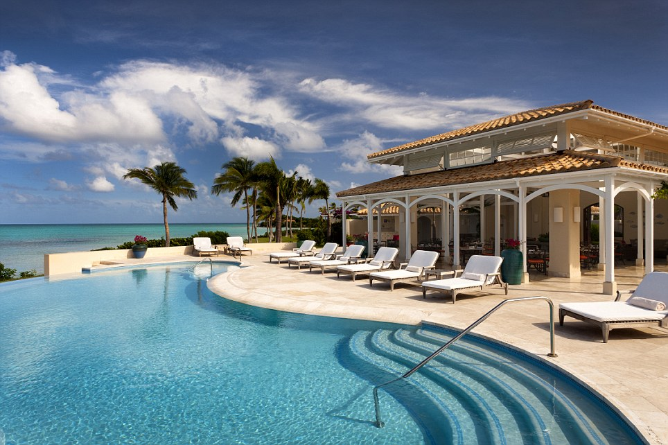 Exclusive resort: Jumby Bay, a sprawling 18,000-square-foot beachfront estate in the Caribbean, came third in the research