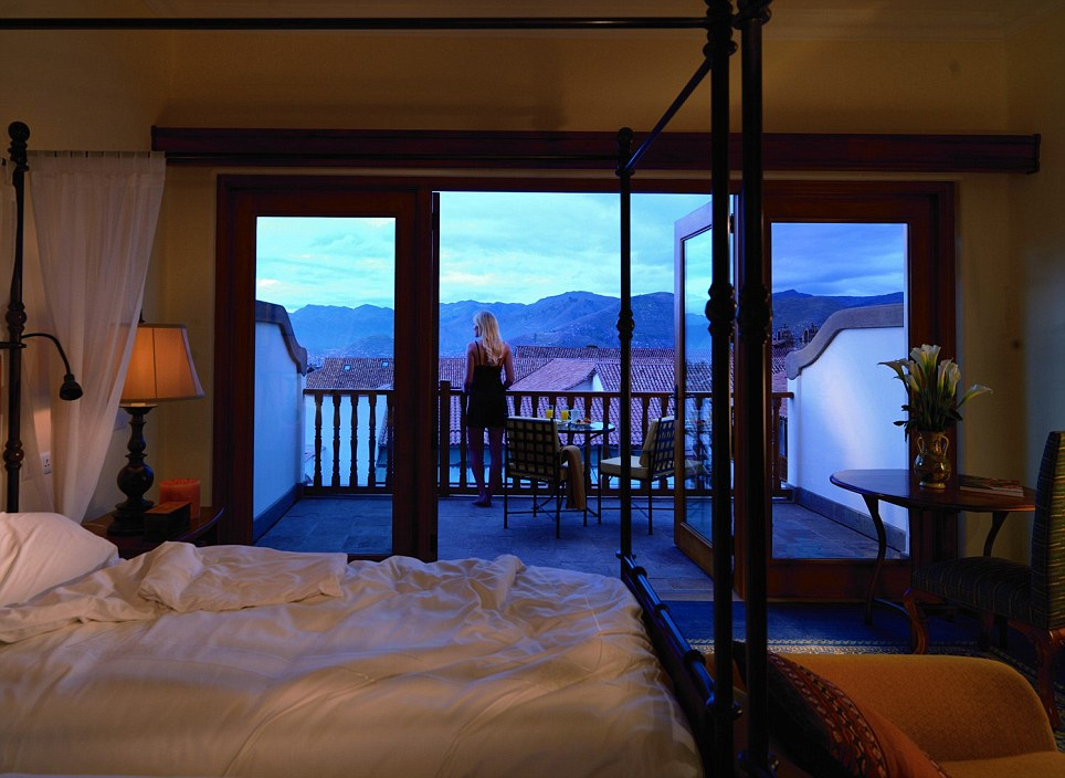 Scenic: The stunning five-star Palacio Nazarenas, close to Machu Picchu, offers views across the mountains from its suites