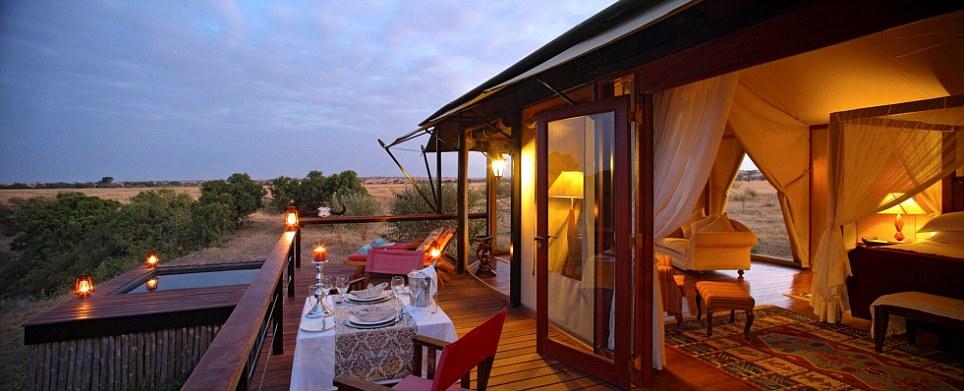 High-end travel: The elegant Olare Mara Kempinski in the Olare Orok Conservancy, Kenya, came ninth in the findings