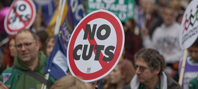 Concerns: The think-tank estimates unprotected public services could see budget cuts of more than 35 per cent over the next five years.