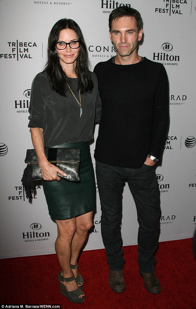 Spec-tacular couple: Courteney showed off her beau at the Los Angeles Celebration of The 2014 Tribeca Film Festival on Monday