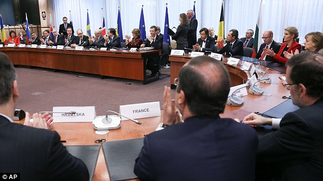 European heads of state came together today an an EU summit in Brussels. The Danish President was pictured next to Angela Merkel