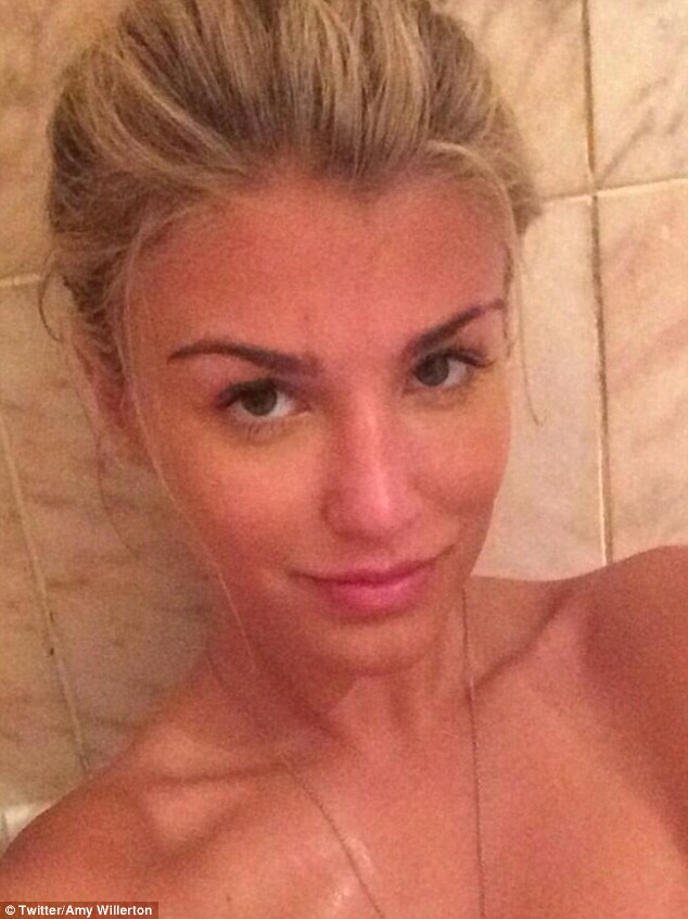 Stripped bare: Amy Willerton posted this gorgeous image of herself from the bath tub