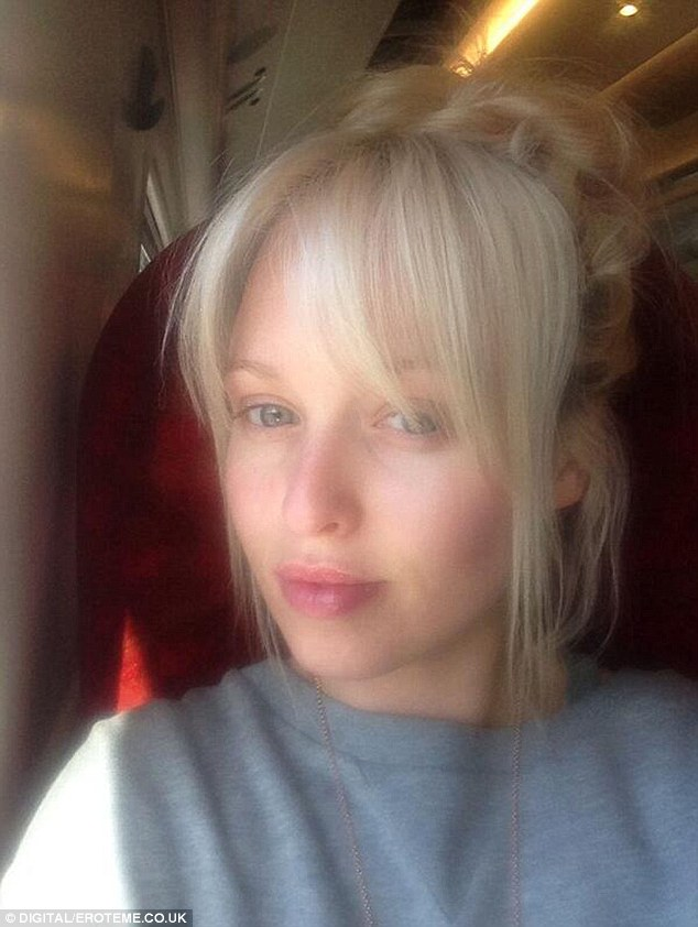 Angelic: Jorgie Porter used her spare time on a train to snap this sexy selfie