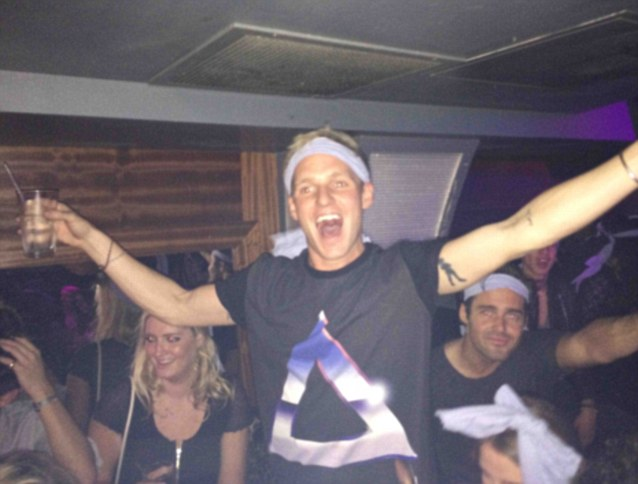 Pardy Boi Jamie Lang goes large at Maddox nightclub during the after party
