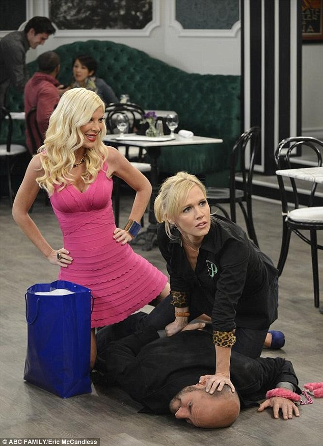 Premiering June 25! The 41-year-old reality star 'isn't fazed' that she's already busy shooting ABC Family's Mystery Girls alongside her 90210 co-star Jennie Garth