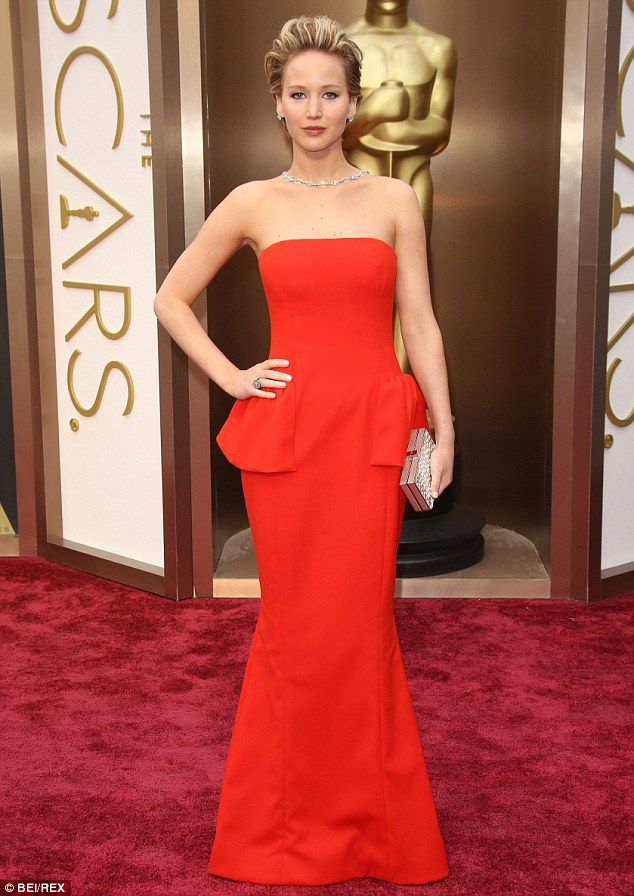 Red hot! She may not have taken home her second Oscar, but the 23-year-old actress won the fashion stakes in her red strapless gown as she attended the Academy Awards on March 2, where she was nominated for Best Supporting Actress for her role in American Hustle