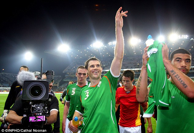 Centurion: Kevin Kilblane (C) remembers avery moment of winning his 100th cap for Ireland