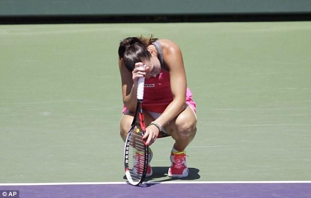 Upset: Serbian former world No 1 Jelena Jankovic shows her frustrations as she loses to Varvara Lepchenko