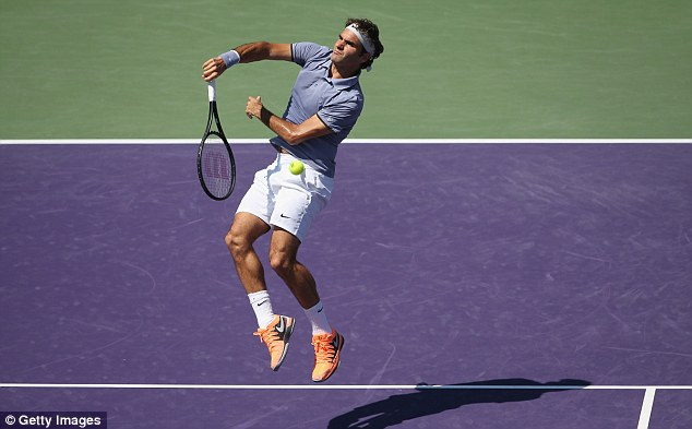 Victory: Federer wrapped up the match in just 75 minutes as he beat Karlovic in straight sets