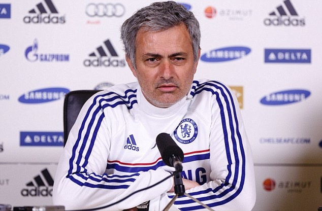 Grumpy: Ahead of the game against Arsenal, Mourinho has claimed he is singled out for harsh treatment