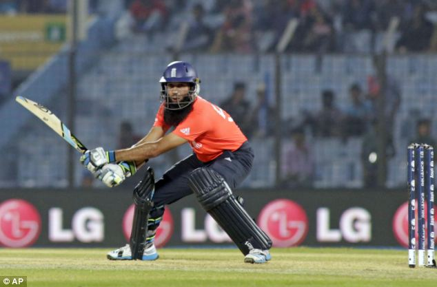 Innovative: England No 3 Moeen Ali looks to caress a ball through the offside in Chittagong